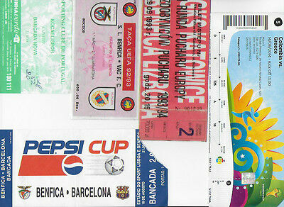Ticket 1993/94 GKS Katowice Poland v Benfica Portugal ECWC