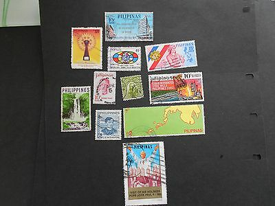 PHILIPPINES 11 Various Stamps