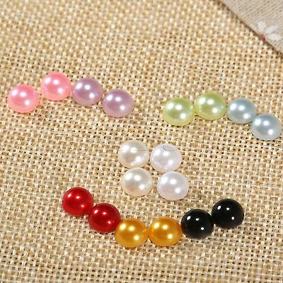 100*Half Round Flat Back Imitaition Pearls DIY Crafts Scrapbooking Embellishment