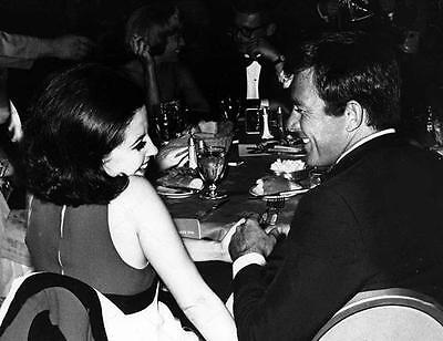 James Stacy And Barbara Parkins Chat Over Dinner    8X10 Photo