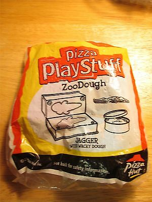 """2000 Pizza Hut Fast Food Kids Meal Toy - """"Play Doh"""" Pizza Dough Jagger  NIP orig"""