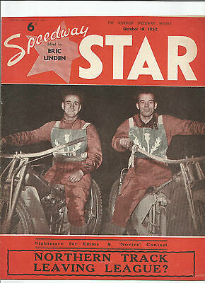 1952 SPEEDWAY STAR 18th OCTOBER     ( GOOD CONDITION )