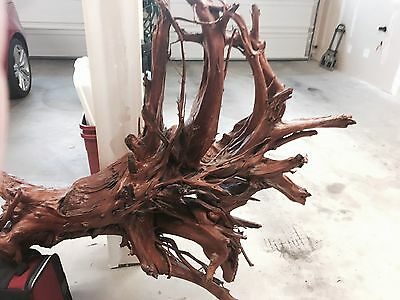 Japanese-style Lacquered Driftwood Stump wall art