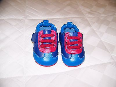 Baby boy shoes, blue and red, size 1, new