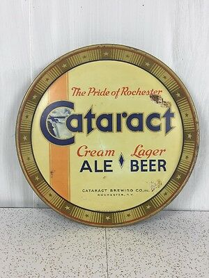 Cataract Cream Lager Ale Beer Tray Vintage Rare