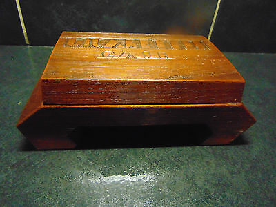 Hand made Art Deco wooden Cigarette BOX