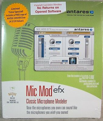 New Antares Mic Mod Efx Classic Microphone Modeler Avox Choir Evo Sealed Win/mac