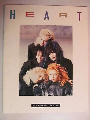 Heart Bad Animals 1987 Concert World Tour Book Program Collectible Great Shape!