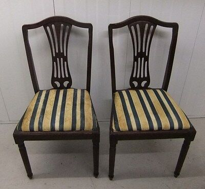 Pair of Vintage Wood Dining Chairs ~ upholstery project