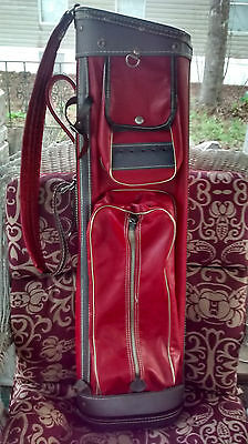 Vintage Burton Mfg Co Collectable Golf bag Red and Grey Very nice!! CLEAN!