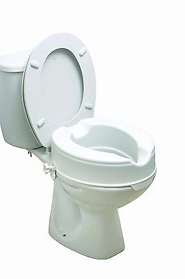 Drive Medical 12066 6-inch Raised Toilet Seat without Lid
