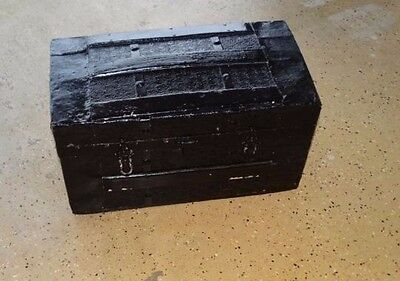 17546 Antique STEAMER TRUNK Small Ladies Victorian Luggage Ship Stagecoach Chest