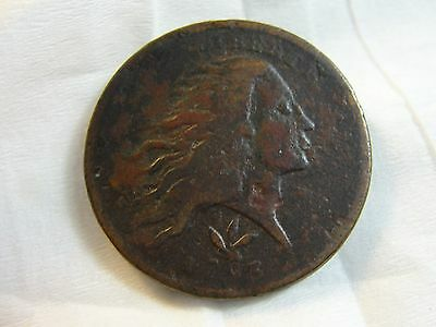 1793 Wreath Large Cent Copper Coin -NO RESERVE