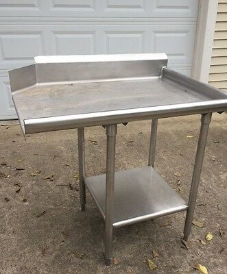 "Hobart Door Type Dishwasher Clean Table  Right Side 40"" Long For 20"" Opening"