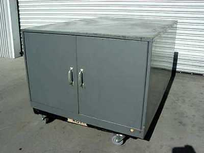 Steel 2 Door Steel Cabinet with 4 Compartments for Glass 36w x 51d x 24h