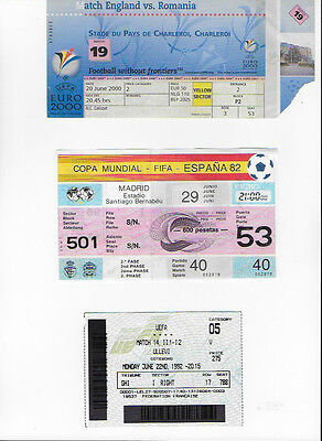 Ticket 2000 Euro Cup England v Romania Match 19