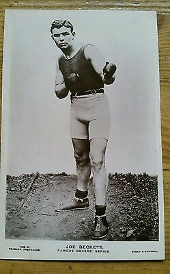 Joe Beckett Boxing Postcard, Beagles Famous Boxers Series, Good Condition.