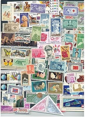 Lot of 200 different  MINT US Postage Stamps, Vintage Packet MNH unused