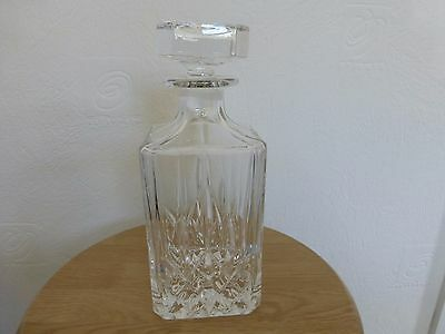 Cut Glass Decanter - Very Heavy Glass
