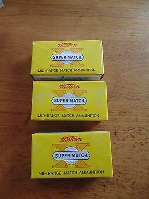Vintage Western Super Match 38 Special Mid-Range Lot Of 3 Box Ammunition EMPTY