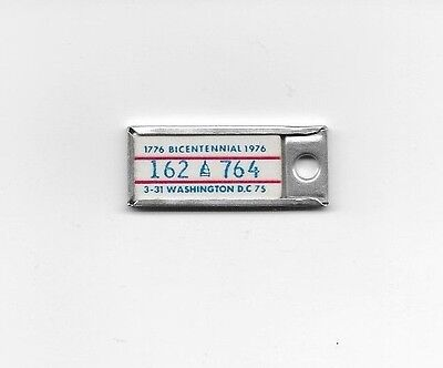 DISTRICT OF COLUMBIA 1975 1976 DAV Keychain License Plate Tag