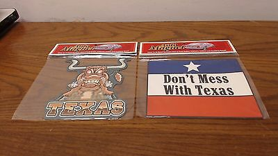 2 Auto Magnets Texas &  Don't Mess With Texas  Refrigerator office New