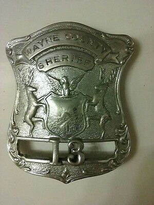 Police Badge Sheriff Wayne Country Suburb of Detroit