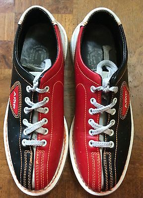 AMF Bowling Shoes Size 8 / 6.5 Leather Red Black White