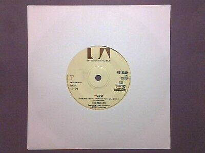 "Don McLean - Vincent (7"" single) UP 35359"