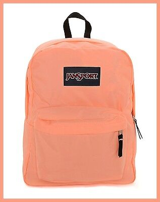 JANSPORT: SuperBreak Original School Bag Backpack in Coral Peaches/Orange (NWT)