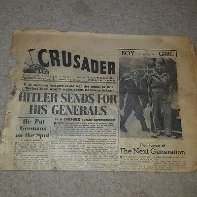 WW2 CRUSADER British Forces Newspaper. Founded by the 8th Army. ORIGINAL