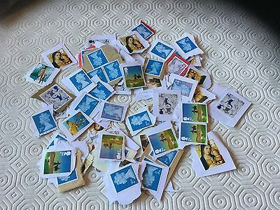 100  GB 2nd  Class Unfranked Stamps On Paper  (5)