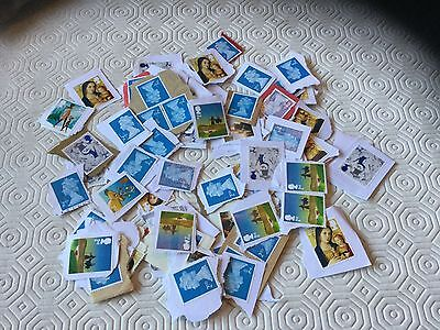 100  GB 2nd  Class Unfranked Stamps On Paper  (1)