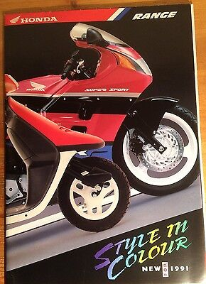 Honda Motorcycle Catalogue With Price List - 1991 - Mint Condition