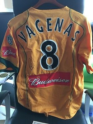 Peter Vagenas LA GALAXY Game Worn Autographed Match Soccer Jersey with COA