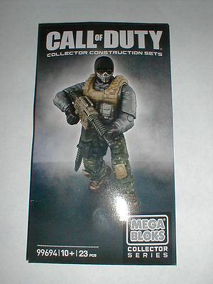 NEW Call of Duty Ghosts Exclusive Mega Bloks Figure Set 99694 LOOK!