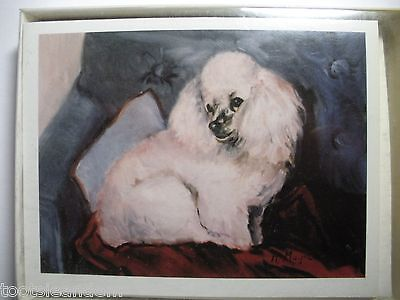White Poodle Notecards Best Friends by Ruth Maystead