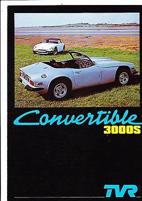 TVR Convertible 3000S & Turbo models brochure - July 1978 - mint condition
