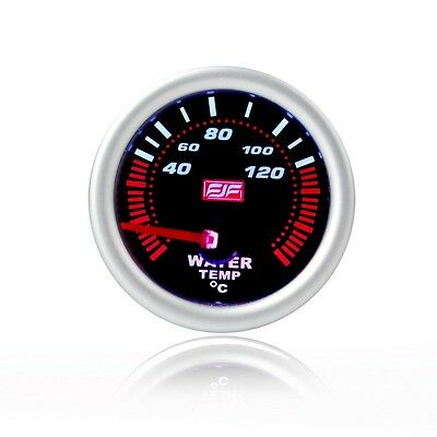 "2"" 52mm Silver Tinted Shell 40-120°C Car Smoke Water Temperature Gauges Meters"