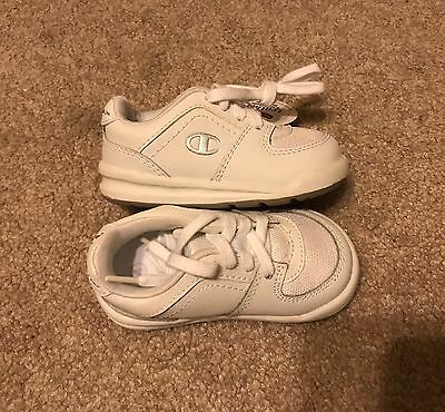 NEW Champion Baby Boys Shoes, White sneakers athletic Size 4
