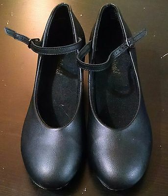 Theatricals black leather sole character shoes size 7 W (fit like 7.5) T3100