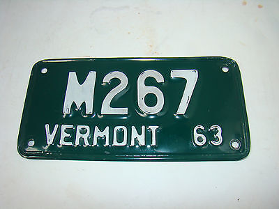 1963 Vermont License Plate