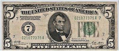 """Series of 1928-A $5 FRN """"Redeemable in Gold note"""" - Fine"""