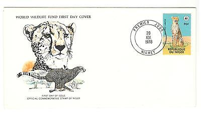 Niger Fdc 1978 Cat Stamps Wild Cats Wwf Cheetah Unaddressed Republic Niger Stamp