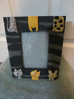CAT Picture Frame - holds 3 x 5 picture
