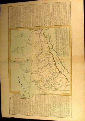 Egypt Red Sea Arabia coast c.1780 uncommon large antique hand color map