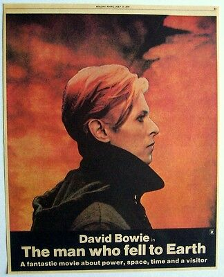 DAVID BOWIE 1976 Poster Ad THE MAN WHO FELL TO EARTH low lazarus