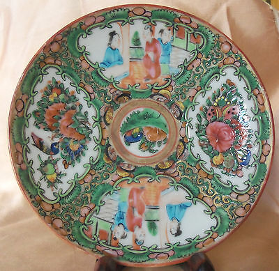 Chinese Rose Medallion Saucer 19th Century D