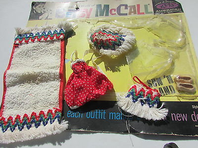 "Betsy McCall 8"" Doll Sun N Sand Outfit with Original Box Bubble Package 1959"
