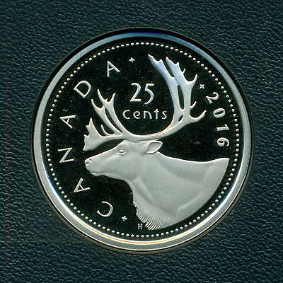 2016 Canada Proof 25 cents - Caribou - Low Mintage -